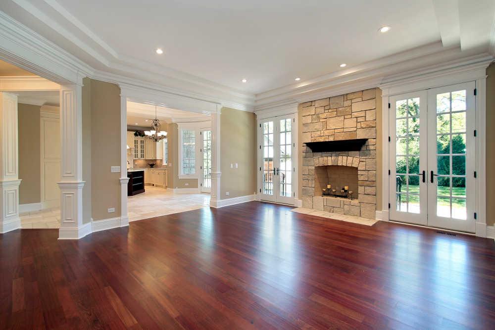 dustless hardwood floor refinishing in Kansas City - new living room hardwood floor