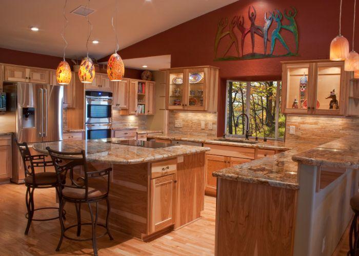 pine flooring in olathe home